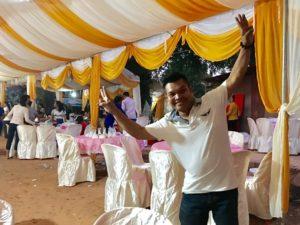 カンボジアの お祝い行事 の様子