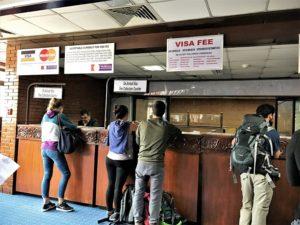 入国に際しての、ネパール ビザの事。