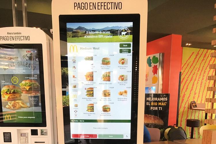 (ひとこと写真) スペインでの McDonald's 。