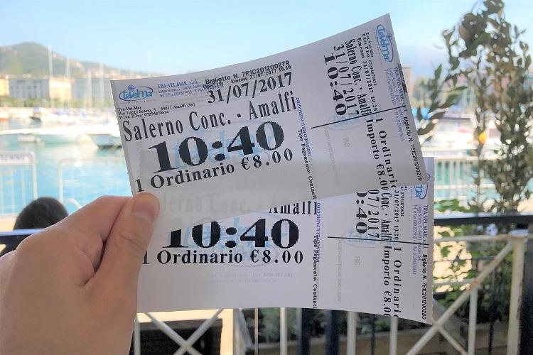 ナポリを拠点に、お洒落なアマルフィ海岸へ行ってみようー!の移動のお話。